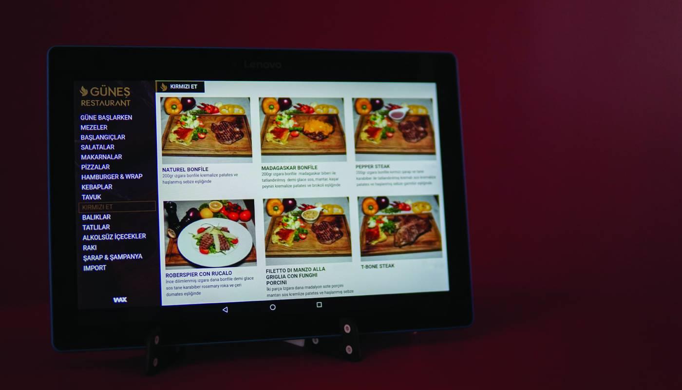 Güneş Restaurant Tablet Menü